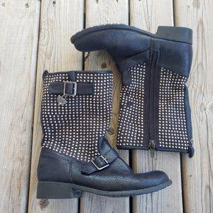 Stuart Weitzman Selma studded shaft boots